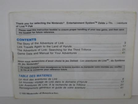 Zelda II - The Adventure of Link - NES Manual